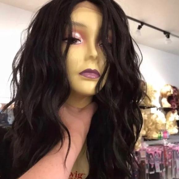 Accessories - Wig sale wavy dark brown Swisslace lacefront wig